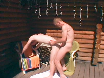 Horny Gays Having Anal outside